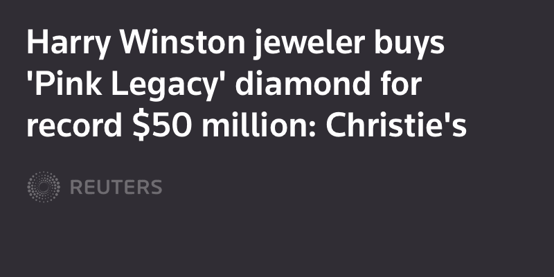 Harry Winston jeweler buys 'Pink Legacy' diamond for record $50 million: Christie's